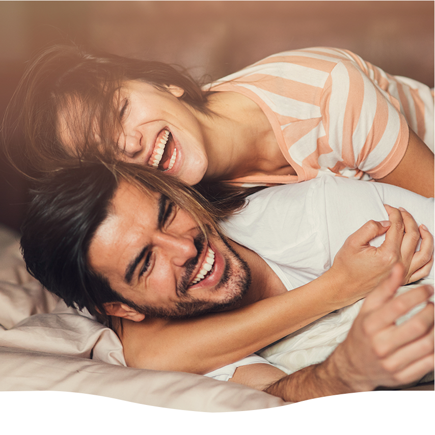couples counselling image of couple laughing
