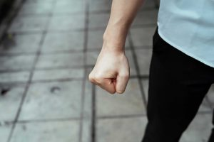anger management therapy image of fist